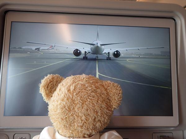 機内カメラ離陸前