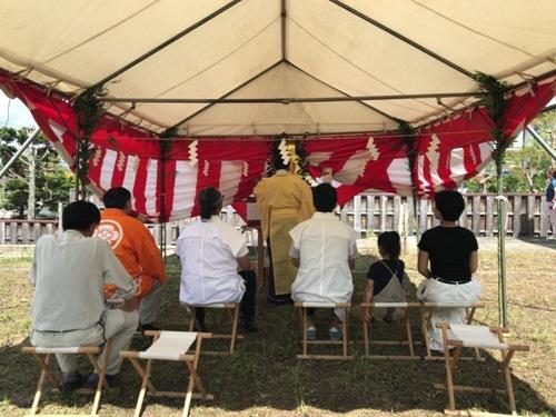 旭ヶ丘の家 地鎮祭