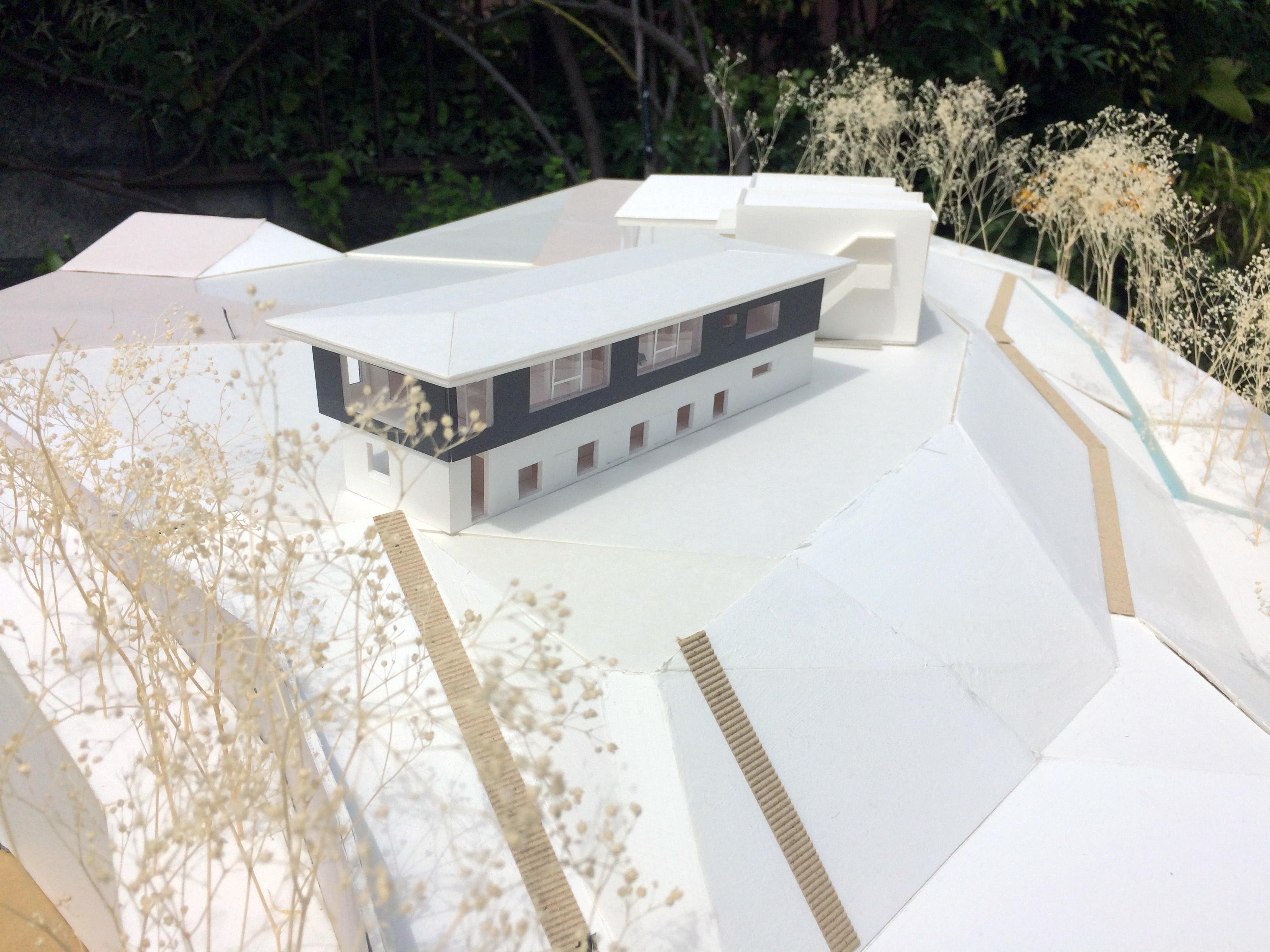森の家 計画模型