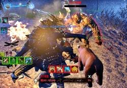 最大モーx3匹と熊x4が行動する戦場は圧巻。
