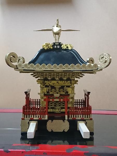 平塚市四之宮 前鳥神社大神輿模型(1/6サイズ)・明王太郎作
