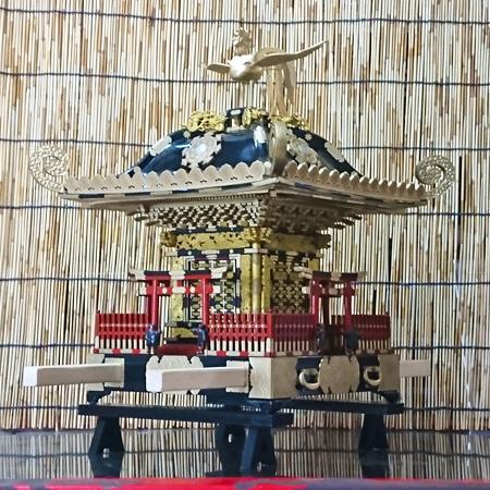 平塚市四之宮 前鳥神社大神輿模型(1/6サイズ)