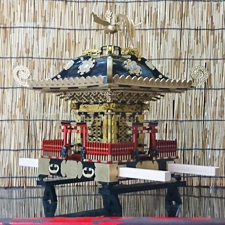 平塚市四之宮 前鳥神社大神輿ミニチュア(1/6サイズ)