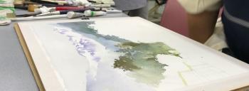 水彩画ワークショップ風景