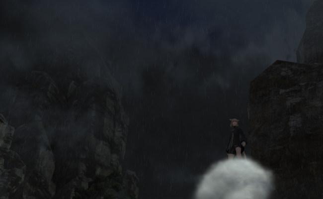 雨の岩12