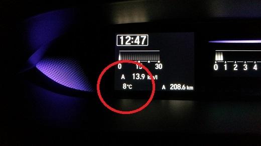 8月に8℃