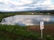 ため池の景色