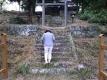 諏訪神社の階段昇り