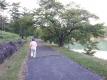 明神池のリハビリウォーキング