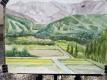 白馬三山を描いたジイの絵
