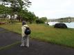 明神池でのウォーキング