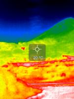 硫黄山サーモグラフィー