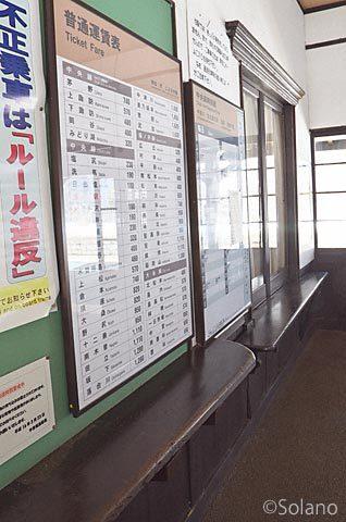 JR東海・中央本線(中央西線)・贄川駅の窓口跡