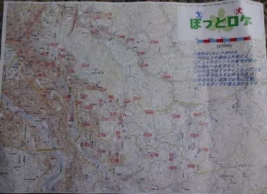 5・3時間コースの地図