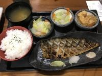 烤鯖魚定食(焼きサバ定食)180810