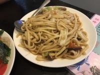 平麺の炒麺180823