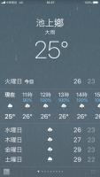 池上25℃大雨180828