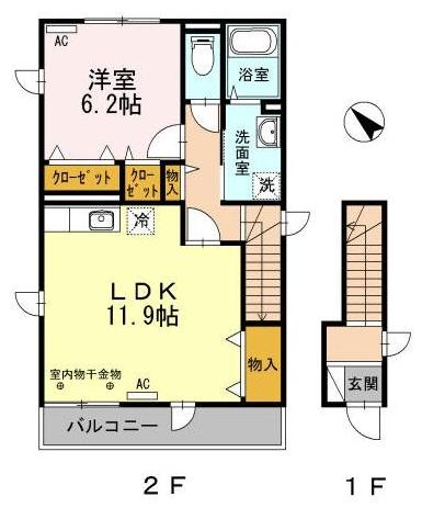 ■物件番号5520 海の近く!海5分!セキュリティ賃貸!1LDK!2階カド!隣室なし!パークでサーフィン!8.3万円!
