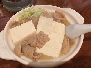 180728加賀山@うどん煮込み豆腐入