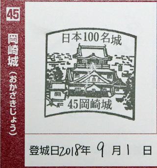 日本100名城スタンプ(岡崎城)