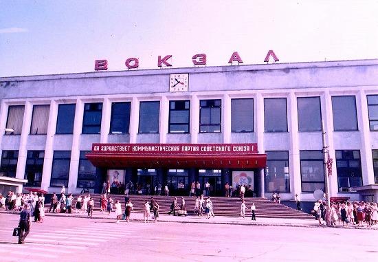 ①ハバロフスク駅