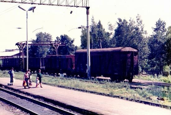⑦ビロビジャン駅の貨車