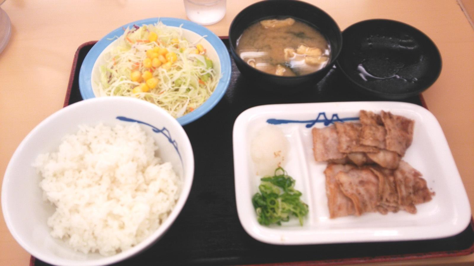 豚バラ定食DSC_2386