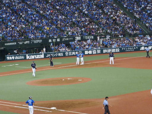 20180816・野球観戦と散歩2-05・1回源田選手3ベース