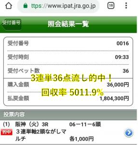 阪神3R180万円
