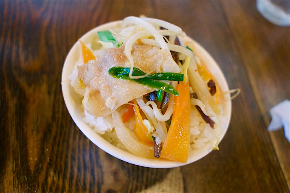 アンディー特製味噌野菜炒め丼