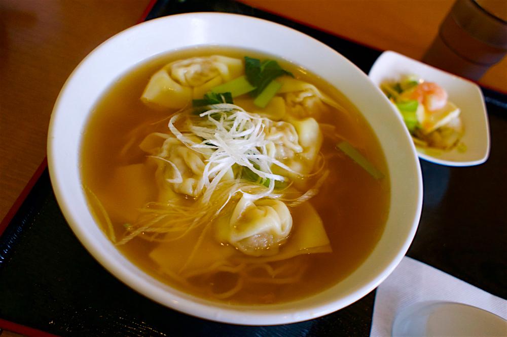 中華ダイニング春菜@宇都宮市陽東 ワンタン麺セット