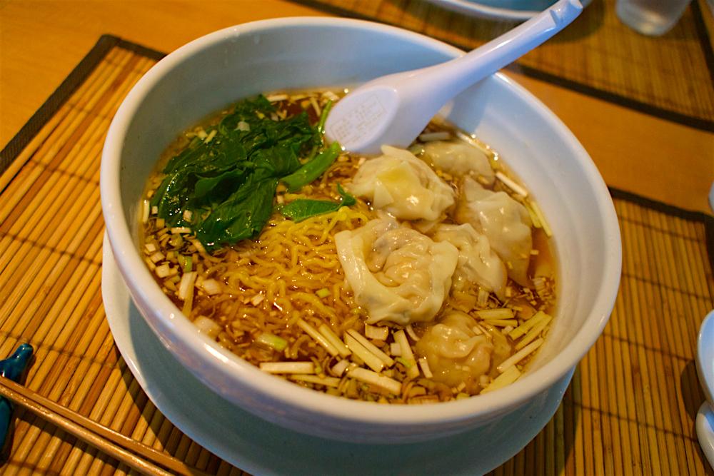 中華料理 孔華@宇都宮市南一の沢 エビワンタン麺
