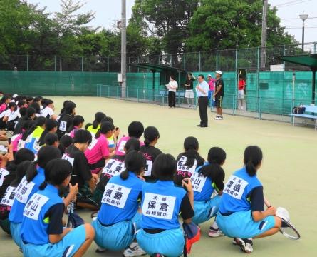 「中学生ソフトテニス大会」③