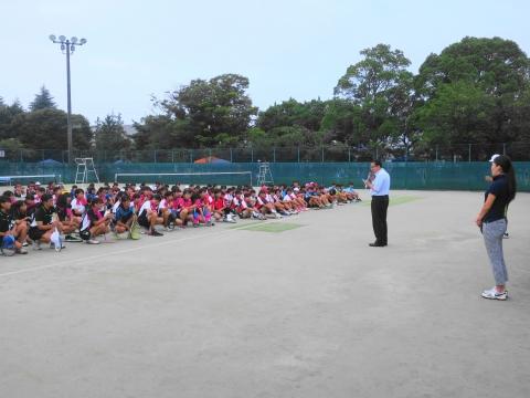 「中学生ソフトテニス大会」④