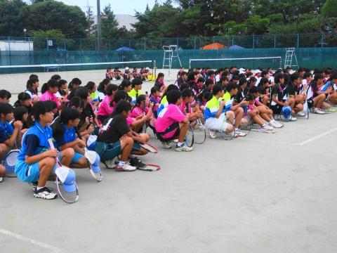 「中学生ソフトテニス大会」⑤