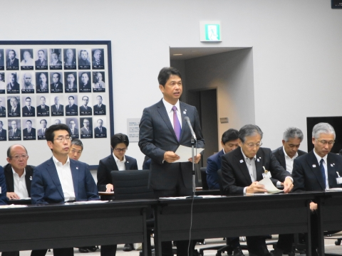 「茨城県議会第3回定例会内示会」 (1)