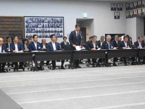 「茨城県議会第3回定例会内示会」 (2)