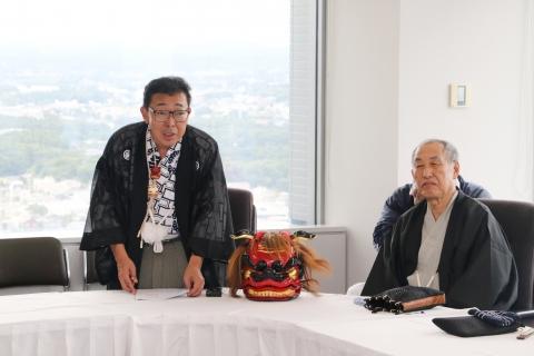 「石岡のおまつりPR大井川知事表敬訪問」⑯