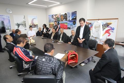 「石岡のおまつりPR大井川知事表敬訪問」⑱