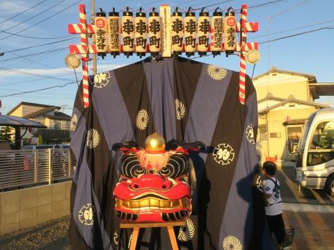 「石岡のおまつり」青年会長顔合わせバスパレード (2)