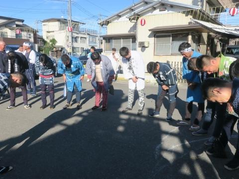 「石岡のおまつり」青年会長顔合わせバスパレード (5)