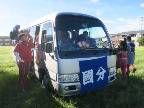 「石岡のおまつり」青年会長顔合わせバスパレード (15)