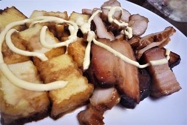 焼き豚と厚揚げ