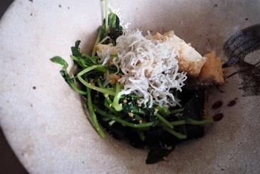 雑魚と豆苗