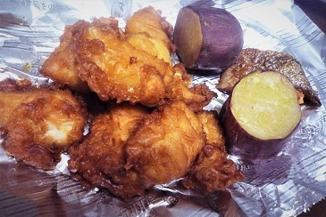 焼き芋と鶏唐