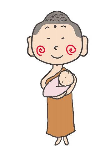500赤ちゃんを抱くお釈迦様