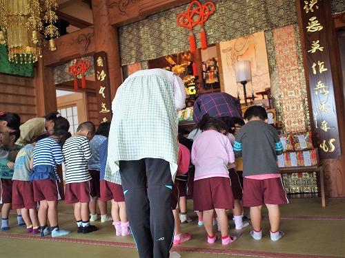 500保育園児による達磨大師【だるまだいし】のお参り3