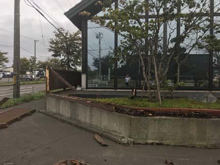 台風看板崩壊