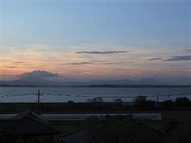 8筑波山の夕景1006