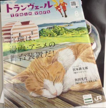 フリーペーパーが猫の表紙